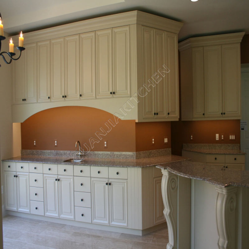 European Style Frameless Maple Solidwood Kitchen Cabinets