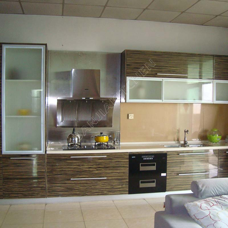 Engineered Wood Veneer Kitchen Cabinets