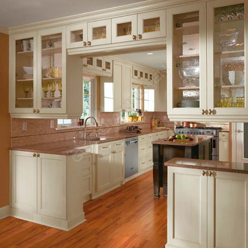 Solid Wood Kitchen Cabinets KC006