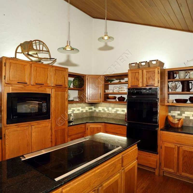 Solid Wood Kitchen Cabinets KC007
