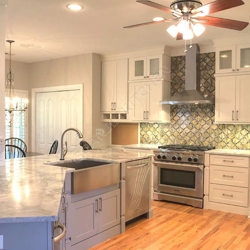 Solid Wood Kitchen Cabinets KC009