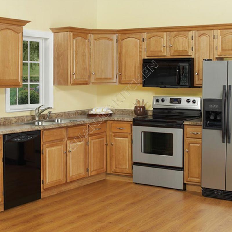 Solid Wood Kitchen Cabinets KC010