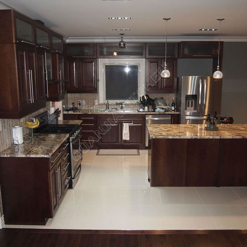 Solid Wood Kitchen Cabinets KC019