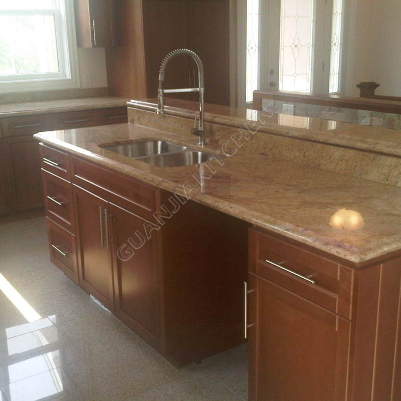Solid Wood Kitchen Cabinets KC021
