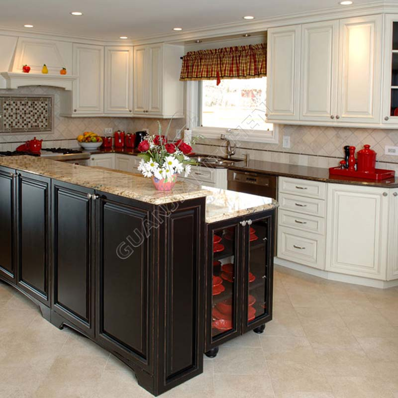 Solid Wood Kitchen Cabinets KC022