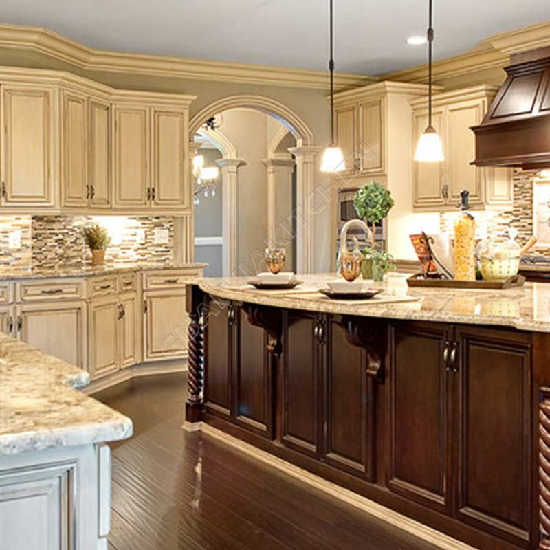 Solid Wood Kitchen Cabinets KC023