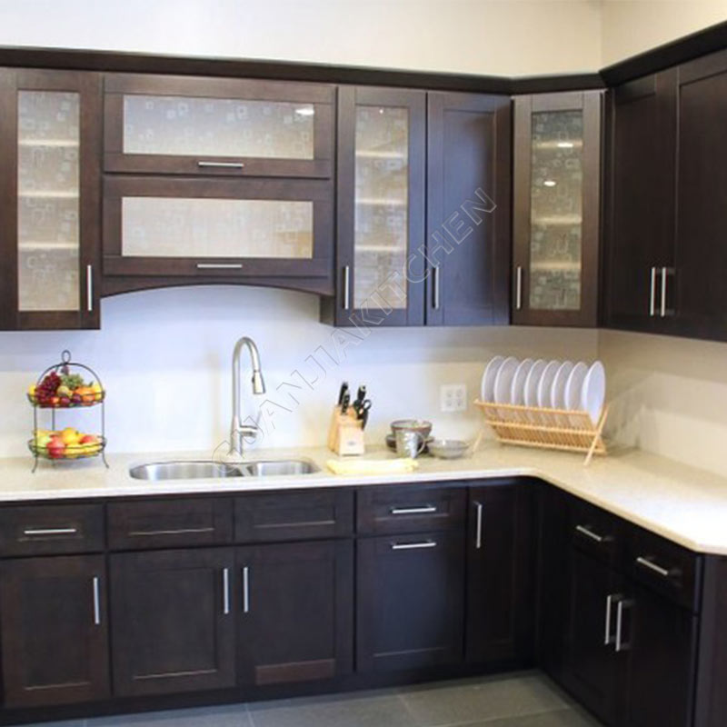 Solid Wood Kitchen Cabinets KC025
