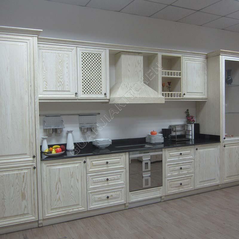 Red Oak Solid Wood Kitchen Cabinets KC026