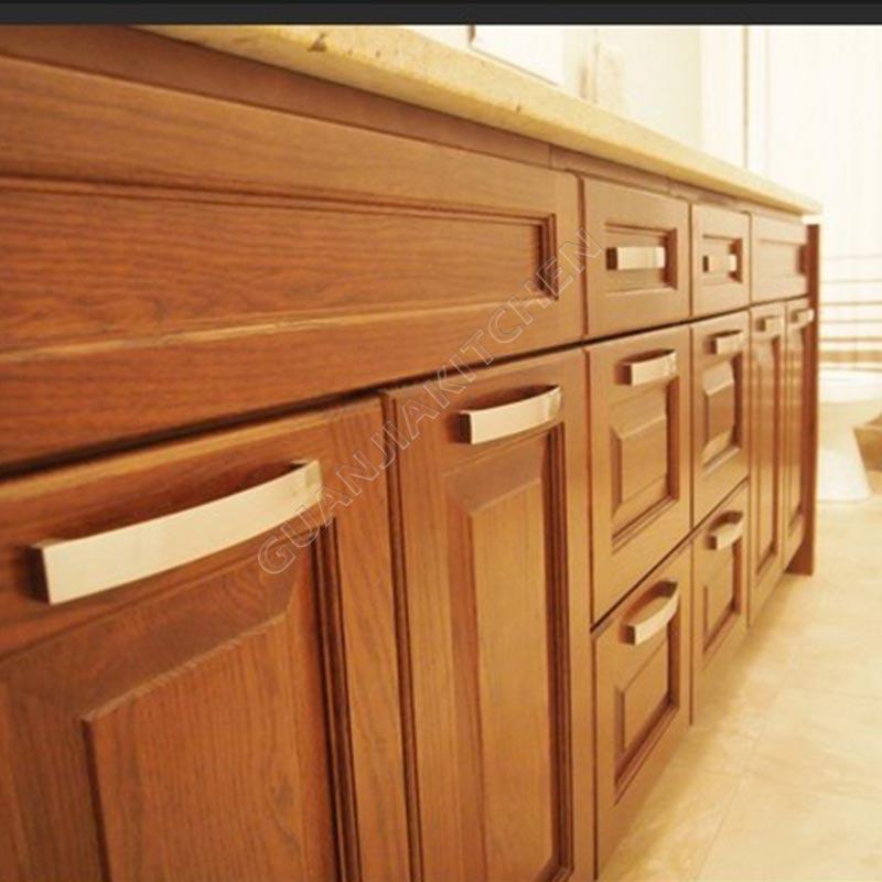 Red Oak vanity cabinets