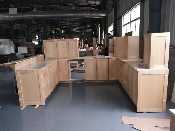 Hard maple kitchen cabinets in natural colors