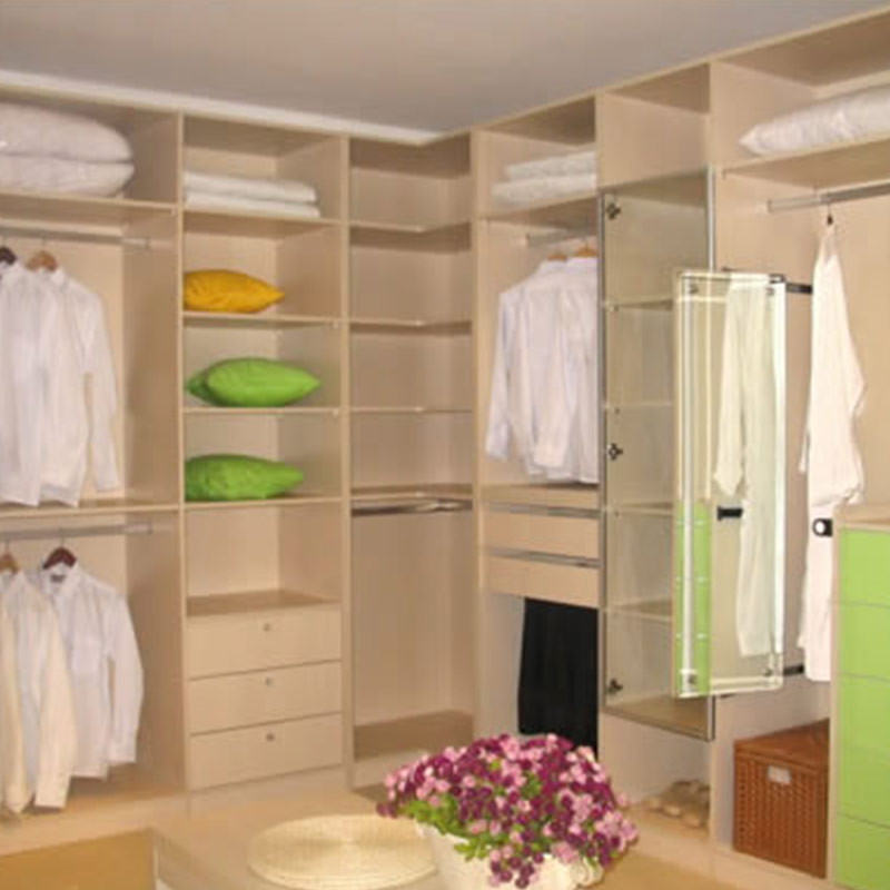 wooden closets