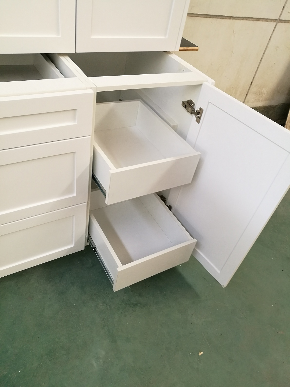 Pullout maple drawer base cabinets